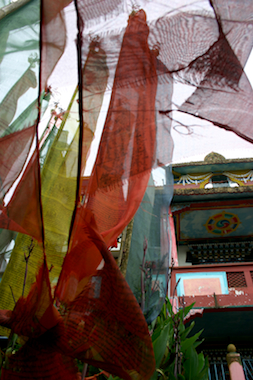 Prayer flags at a monastery