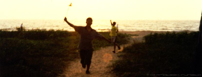Ritwik and Sureka chasing me